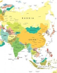 Landen in Azië
