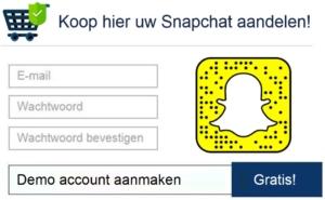 Snapchat inschrijvingen